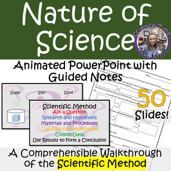 Nature Of Science Animated Powerpoint Notes Scientific Method Walkthrough