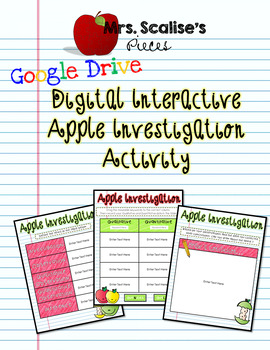 "Nature of Science ""Apple Investigation"" Google Digital Interactive Activity"