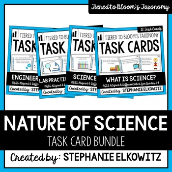 Nature of Science Complete Task Card Set (Differentiated a