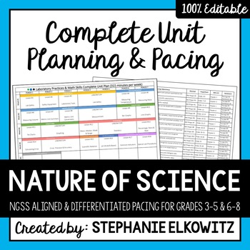Nature of Science Complete Unit Planning and Pacing