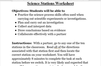 Nature of Science: Science Stations