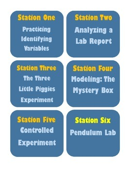 Nature of Science Stations