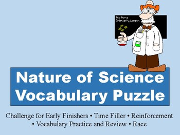 Nature of Science Vocabulary Puzzle - FREEBIE