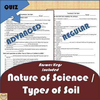 Nature of Science Vocabulary Quiz