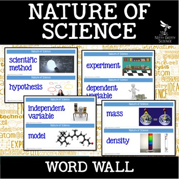 Nature of Science - Word Wall FREEBIE