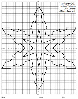 Snowflake Mystery Picture - 4 Quadrants (Nature's Geometry)