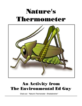 Insects - Nature's Thermometer a cricket