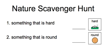 Nature scavenger hunt - special education