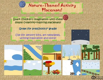 Nature-themed Activity Placemats