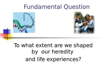 Nature versus Nurture Psychology/Science Power Point IB