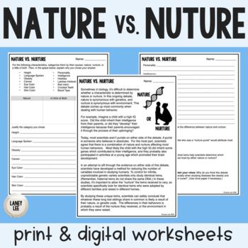 nature vs nurture theory sociology