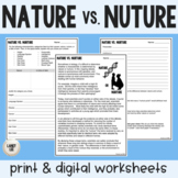 Nature vs. Nurture Guided Reading - Print & Google Versions