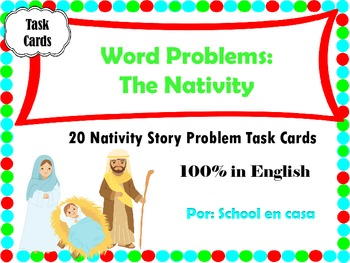 Nativity Word Problem Task Cards