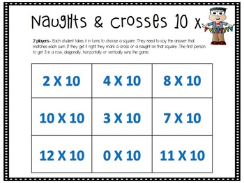 Math Centers Game - Multiplication - Naughts and Crosses, Tic Tac Toe