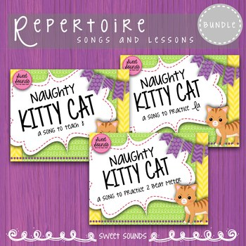 Bundle Naughty Kitty Cat {Ta Rest, La and 2 Beat Meter Practice Pack}