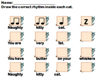 Naughty Kitty Cat - ta titi shh practice