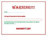 Naughty List Warning
