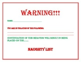 Naughty List Warning