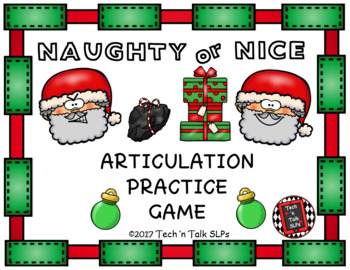 Naughty or Nice -  Articulation Practice Game