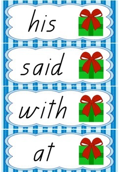 Christmas Sight Word Game {Queensland Font}