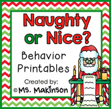 Naughty or Nice? Behavior Printables