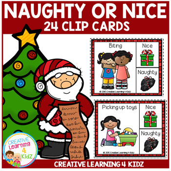 Naughty or Nice Christmas Clip Cards
