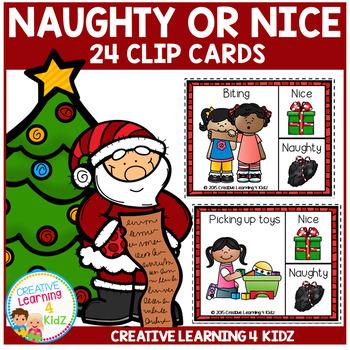Naughty or Nice Christmas Clip Cards