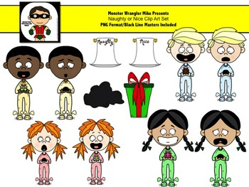 Naughty or Nice Clip Art Collection