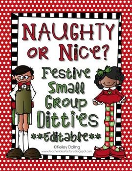 Christmas Center Game - Naughty Or Nice {Editable}