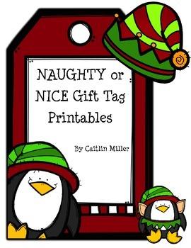Naughty or Nice Gift Tags Freebie