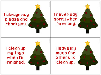 Naughty or Nice List Social Skills for Speech Therapy