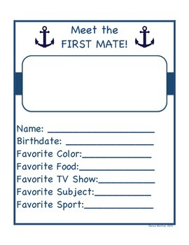 Nautical 2nd Grade End of the Year Memory Book!