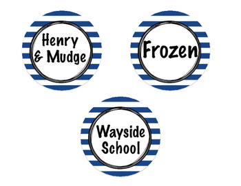 Nautical 2nd Grade Library Labels