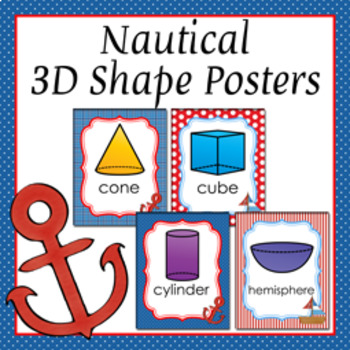 Nautical 3D Shape Posters