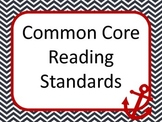 Nautical 6th grade READING common core standard posters