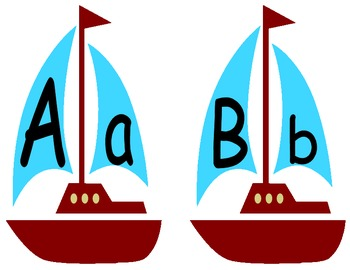 Nautical ABC posters