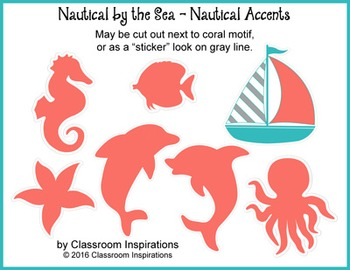 Nautical Accents – Coordinates with Nautical by the Sea Classroom Theme