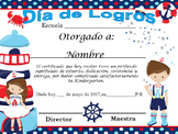 Nautical Achievement award English & Spanish version Completely Editable!!!!