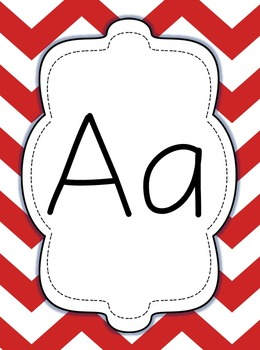 Nautical Alphabet Cards in Red and Blue