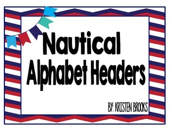 Nautical Alphabet Headers