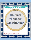 Nautical Alphabet Line Banner