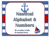 Nautical Theme Alphabet & Numbers for Bulletin Board Printables