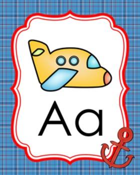 Nautical Alphabet Posters A-Z