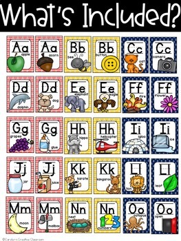 Nautical Alphabet Posters (Set 2) Red, Yellow and Blue- Nautical Classroom Decor