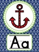 Nautical Alphabet Strip - Preppy Navy and Green