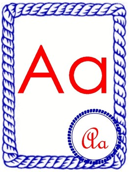 Nautical Alphabet Word Wall