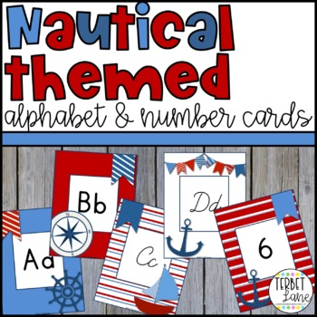 Nautical Alphabet Letters and Numbers Cards