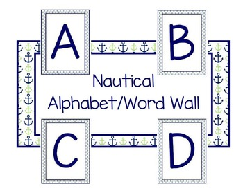 Nautical Alphabet/Word Wall
