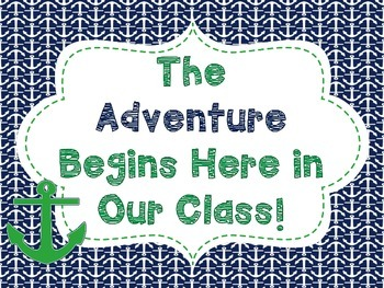 Nautical Anchor Classroom Posters & Name Tags