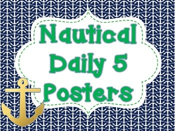 Nautical Anchor Daily Five Management Poster Charts